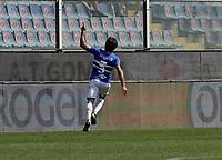 12th September 2021; G.Ferraris Stadium, Genoa, Italy; Serie A football, Sampdoria versus Inter Milan; Tommaso Augello of Sampdoria  celebrates after scoring his gol for 2-2 in the 47th minute