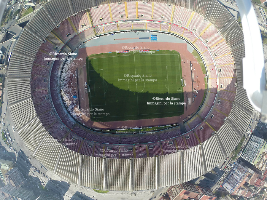 - NAPOLI 21 MAR  2014 -  veduta aerea Stadio San Paolo © Riccardo Siano