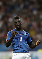 International friendly football match France vs Italy, Allianz Riviera, Nice, France, June 1, 2018. <br /> Italy's Mario Balotelli reacts during the international friendly football match between France and Italy at the Allianz Riviera in Nice on June 1, 2018.<br /> UPDATE IMAGES PRESS/Isabella Bonotto