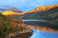 SC -Prov. Argyll & Bute<br /> Golden mountain reflection on Loch Creran (A828)<br /> <br /> Full size: 69,2 MB