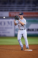 Lakeland Flying Tigers second baseman Joey Pankake (9) waits for a throw during a game against the Tampa Yankees on April 8, 2016 at George M. Steinbrenner Field in Tampa, Florida.  Tampa defeated Lakeland 7-1.  (Mike Janes/Four Seam Images)