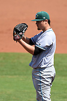 Daytona Tortugas pitcher Nick Travieso (21) looks in for the sign during a game against the Charlotte Stone Crabs on April 14, 2015 at Charlotte Sports Park in Port Charlotte, Florida.  Charlotte defeated Daytona 2-0.  (Mike Janes/Four Seam Images)