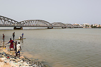 Senegal, Saint Louis.  Pont Faidherbe Bridge over the River Senegal, Built 1897.