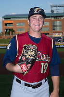 Scranton/Wilkes-Barre RailRiders relief pitcher Jacob Lindgren (19) poses for a photo prior to the game against the Durham Bulls at Durham Bulls Athletic Park on May 15, 2015 in Durham, North Carolina.  The RailRiders defeated the Bulls 8-4 in 11 innings..  (Brian Westerholt/Four Seam Images)