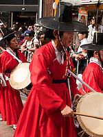 Umzug in Nampo-dong, Busan, Gyeongsangnam-do, Südkorea, Asien<br /> procession in Nampo-dong, Busan,  province Gyeongsangnam-do, South Korea, Asia