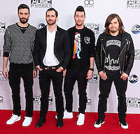 LOS ANGELES, CA, USA - NOVEMBER 23: Kyle Simmons, William Farquarson, Dan Smith, Chris 'Woody' Wood, Bastille arrive at the 2014 American Music Awards held at Nokia Theatre L.A. Live on November 23, 2014 in Los Angeles, California, United States. (Photo by Xavier Collin/Celebrity Monitor)