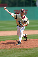 Boston College Eagles RHP Dave Laufer in action vs. NC Tar Heels at Shea Field March 28, 2009 in Chestnut Hill, MA (Photo by Ken Babbitt/Four Seam Images)