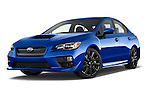 Stock pictures of low aggressive front three quarter view of 2017 Subaru WRX 2 4 Door Sedan Low Aggressive