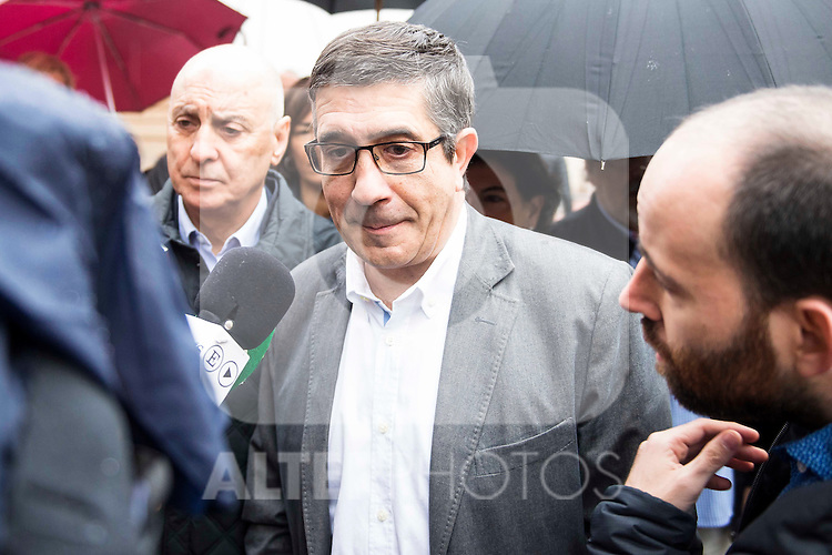 Patxi Lopez attends to the meeting of PSOE's Federal Committee at PSOE's headquarters in Ferraz, Madrid. October 23, 2016. (ALTERPHOTOS/Borja B.Hojas)