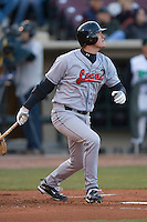 Austin Gallagher #35 of the Great Lakes Loons follows through on his swing versus the Dayton Dragons at Fifth Third Field April 22, 2009 in Dayton, Ohio. (Photo by Brian Westerholt / Four Seam Images)