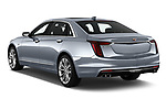 Car pictures of rear three quarter view of 2019 Cadillac CT6 Platinum 4 Door Sedan Angular Rear