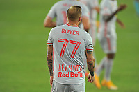 WASHINGTON, DC - SEPTEMBER 12: Daniel Royer #77 of New York Red Bulls during a game between New York Red Bulls and D.C. United at Audi Field on September 12, 2020 in Washington, DC.