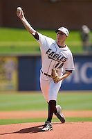 Starting pitcher JB McDonald #12 of the Boston College Eagles in action versus the Georgia Tech Yellow Jackets at Durham Bulls Athletic Park May 21, 2009 in Durham, North Carolina.  (Photo by Brian Westerholt / Four Seam Images)