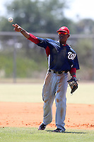 Washington Nationals Josh Johnson #20 during a spring training game against the Baltimore Orioles at the Spacecoast Stadium Training Complex on March 27, 2011 in Melbourne, Florida.  Photo By Mike Janes/Four Seam Images