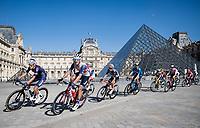 Jasper Stuyven (BEL/Trek-Segafredo) passing the Musée du Louvre / Louvre Museum<br /> <br /> Stage 21 (Final) from Chatou to Paris - Champs-Élysées (108km)<br /> 108th Tour de France 2021 (2.UWT)<br /> <br /> ©kramon