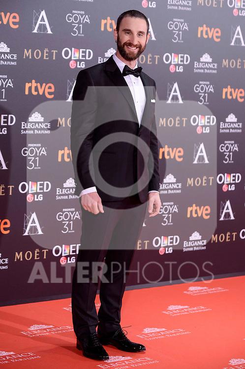 Dani Rovira attends to the Red Carpet of the Goya Awards 2017 at Madrid Marriott Auditorium Hotel in Madrid, Spain. February 04, 2017. (ALTERPHOTOS/BorjaB.Hojas)
