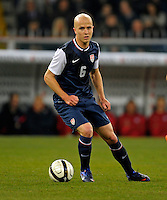 Michael Bradley  (USA), during the friendly match Italy against USA at the Stadium Luigi Ferraris at Genoa Italy on february the 29th, 2012.