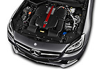 Car Stock 2017 Mercedes Benz SLC AMG 2 Door Convertible Engine  high angle detail view