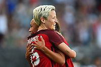 Carson, CA - Thursday August 03, 2017: Megan Rapinoe, Mallory Pugh during a 2017 Tournament of Nations match between the women's national teams of the United States (USA) and Japan (JPN) at the StubHub Center.