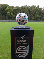 Match ball pictured before a female soccer game between Standard Femina de Liege and White Star Woluwe on the fifth matchday of the 2021 - 2022 season of Belgian Scooore Womens Super League , saturday 2 nd of October 2021  in Angleur , Belgium . PHOTO SPORTPIX   SEVIL OKTEM