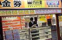 Western Union Money changer in Shinjuku, Tokyo..............