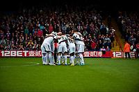 Sun 22 September 2013<br /> <br /> Pictured: Swans huddle<br /> <br /> Re: Barclays Premier League Crystal Palace FC  v Swansea City FC  at Selhurst Park, London