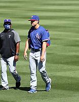 Justin Foscue - Texas Rangers 2021 spring training (Bill Mitchell)