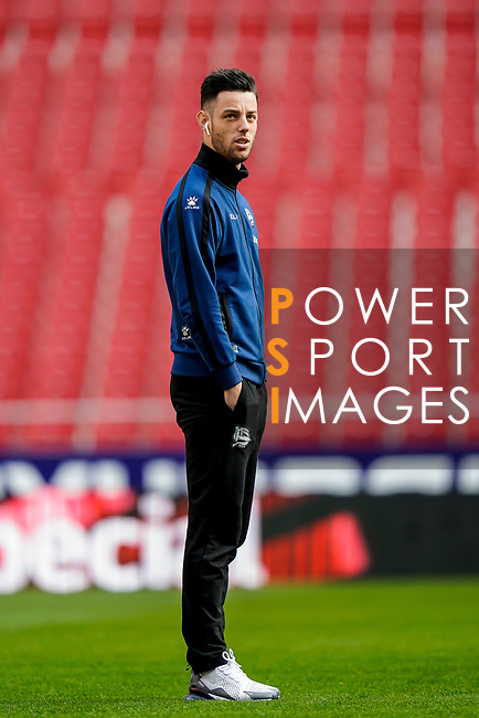 Jorge Franco Alviz, Burgui, of Deportivo Alaves is seen prior to the La Liga 2018-19 match between Atletico de Madrid and Deportivo Alaves at Wanda Metropolitano on December 08 2018 in Madrid, Spain. Photo by Diego Souto / Power Sport Images