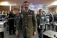 """Prince Felipe of Spain attends the """"Guardia Civil"""" Seacoast and Borders Watching Coordination Center on October 16, 2013 in Madrid, Spain. (ALTERPHOTOS/Victor Blanco)"""