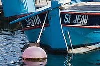 Europe/France/Corse/2B/Haute-Corse/Cap Corse/Nebbio/Bastia: Le Vieux Port - Détail pointu des pêcheurs