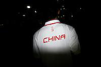 CHINA. Beijing. A man wearing a China shirt during the Beijing 2008 Summer Olympics. 2008