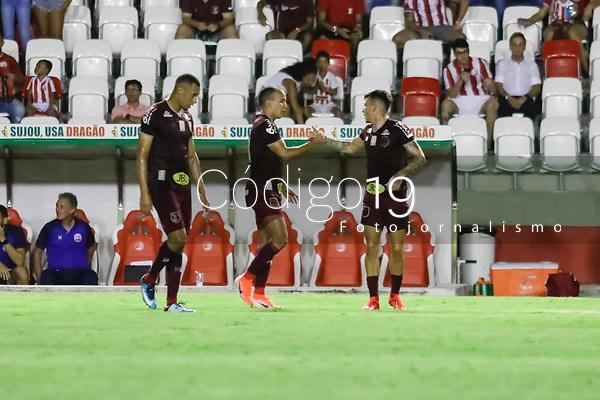 Recife (PE), 23/01/2020 - Náutico-River - Matheus Carvalho comemora gol do Náutico. Partida entre Náutico e River-PI pela Copa do Nordeste nesta quinta-feira (23) no estádio dos Aflitos em Recife.