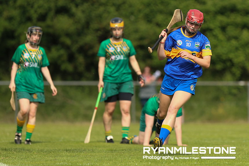 Tipperary's Eibhlis McDonnell scores a goal during the Liberty Insurance All Ireland Senior Camogie Championship Round 1 between Tipperary and Meath at the Ragg, Co Tipperary. Photo By Michael P Ryan.