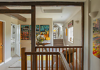 BNPS.co.uk (01202) 558833. <br /> Pic: Savills/BNPS<br /> <br /> Pictured: First floor landing. <br /> <br /> A wheely rare opportunity...<br /> <br /> A grand country manor with a 300-year-old donkey wheel is on the market for £4.95m.<br /> <br /> The donkey wheel at Annables Manor, one of only two still in existence in England, was built in the 17th century and used to draw water from the 145ft well.<br /> <br /> The Grade II listed manor house near Harpenden, Herts, is one of the finest country houses in the area and as well as its unusual historic feature it has a heated swimming pool and tennis court in its 5.34 acres of land.<br /> <br /> The seven-bedroom home has lots of impressive features including oak beams, open fireplaces and solid oak floors.