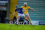 Shane Conway, Kerry, in action against Michael Burke, Meath during the Round 1 meeting of Kerry and Meath in the Joe McDonagh Cup at Austin Stack Park in Tralee on Sunday.
