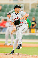 Hagerstown Suns starting pitcher Taylor Hill #41 in action against the Kannapolis Intimidators at CMC-Northeast Stadium on June 9, 2012 in Kannapolis, North Carolina.  The Suns defeated the Intimidators 11-6.  (Brian Westerholt/Four Seam Images)