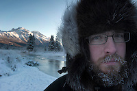 Self portrait, sub-zero along Eagle River.