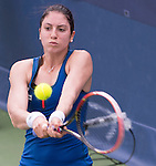 Christina McHale (USA) defeats Yulia Putintseva (KAZ) 6-2, 1-6, 7-5 at the Citi Open in Washington, DC,  on August 6, 2015.