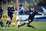 Dundee v St Johnstone…29.12.18…   Dens Park    SPFL<br />Tony Watt's shot is blocked by Andrew Boyle<br />Picture by Graeme Hart. <br />Copyright Perthshire Picture Agency<br />Tel: 01738 623350  Mobile: 07990 594431