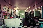 The retro Doppelganger Hair Salon on Enmore Rd in Newtown, NSW, Australia