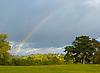 Rainbow over Hampstead Heath.<br /> <br /> Stock Photo by Paddy Bergin