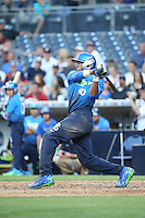 Jayson Gonzalez (40) of the West Team bats against the East Team during the Perfect Game All American Classic at Petco Park on August 14, 2016 in San Diego, California. West Team defeated the East Team, 13-0. (Larry Goren/Four Seam Images)