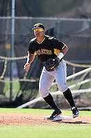 Pittsburgh Pirates infielder Jose Osuna (53) during a minor league spring training intrasquad game on March 30, 2014 at Pirate City in Bradenton, Florida.  (Mike Janes/Four Seam Images)