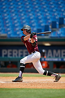 Drew Leinenbach (8) of Dunnellon High School in Dunnellon, FL during the Perfect Game National Showcase at Hoover Metropolitan Stadium on June 20, 2020 in Hoover, Alabama. (Mike Janes/Four Seam Images)