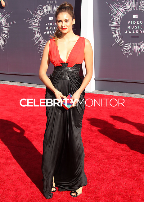 LOS ANGELES, CA, USA - AUGUST 24: Nina Dobrev at the 2014 MTV Video Music Awards held at The Forum on August 24, 2014 in the Los Angeles, California, United States. (Photo by Xavier Collin/Celebrity Monitor)