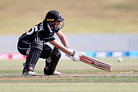 4th April 2021; Bay Oval, Taurange, New Zealand;  White Ferns Katey Martin plays a ramp shot during the 1st women's ODI White Ferns versus Australia Rose Bowl cricket match at Bay Oval in Tauranga.