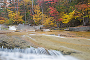 Swift River just off the Kancamagus Scenic Byway in the White Mountains, New Hampshire USA during the autumn months
