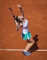 Paris, France, 7 June, 2017, Tennis, French Open, Roland Garros,  Simona Halep (ROU)<br /> Photo: Henk Koster/tennisimages.com