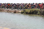 The start of Stage 8 of La Vuelta d'Espana 2021, running 173.7km from Santa Pola to La Manga del Mar Menor, Spain. 21st August 2021.     <br /> Picture: Luis Angel Gomez/Photogomezsport | Cyclefile<br /> <br /> All photos usage must carry mandatory copyright credit (© Cyclefile | Luis Angel Gomez/Photogomezsport)