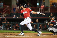 Erie SeaWolves third baseman JaCoby Jones (21) during a game against the Richmond Flying Squirrels on May 27, 2016 at Jerry Uht Park in Erie, Pennsylvania.  Richmond defeated Erie 7-6.  (Mike Janes/Four Seam Images)